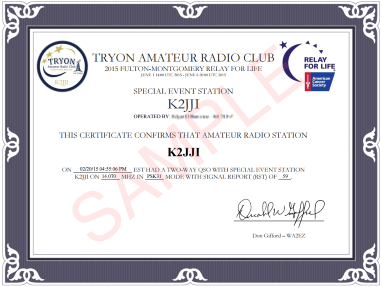 Sample of certificate.